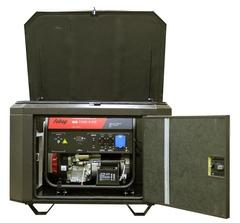 Готовый комплект аварийного питания на 7 кВт бензиновый генератор FUBAG BS7500A ES в еврокожухе SB1200 с АВР (блоком автоматического ввода резерва)