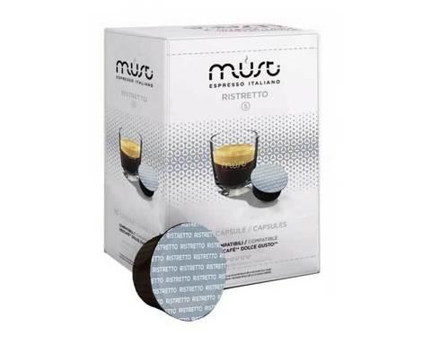 Кофе в капсулах Must Ristretto, 16 капсул для кофемашин Dolce Gusto