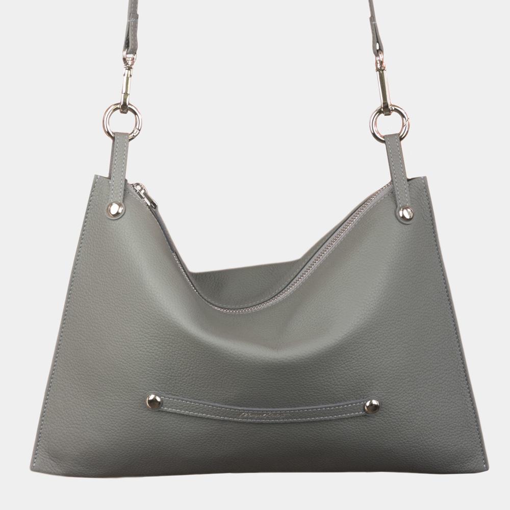 Женская сумка Tereze Easy из натуральной кожи теленка, стального цвета