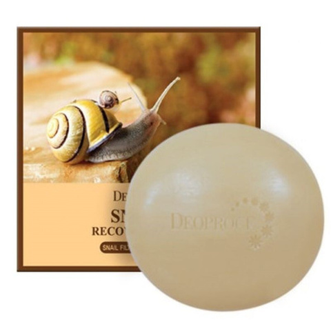 Восстанавливающее мыло с муцином улитки DEOPROCE Snail Recovery Soap