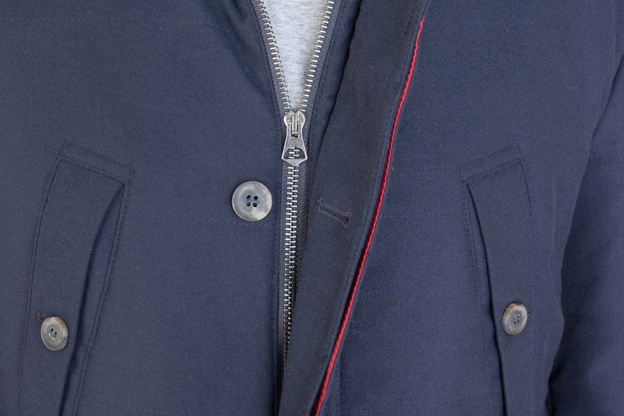 Тёмно-синяя шерстяная куртка