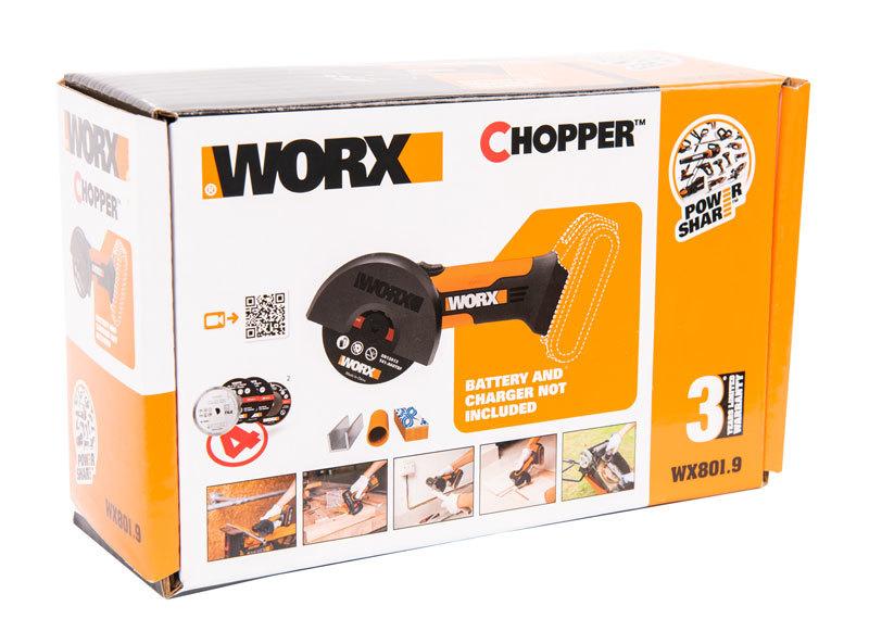Угловая шлифмашина аккумуляторная WORX WX801.9 20В
