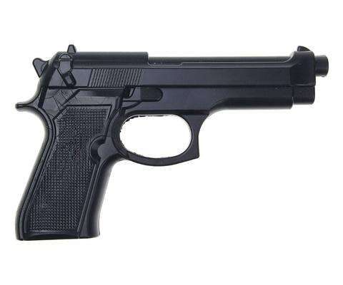 Пистолет тренировочный резиновый Beretta 92, черный