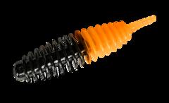 Силиконовые приманки Trout Bait Jumbo 50 (50 мм, цвет: Чёрно-оранжевый, запах: сыр, банка 12 шт.)