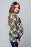 Туника для беременных 07160 синий-зеленый