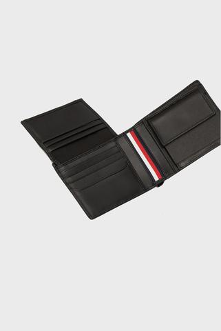 Мужской черный кожаный кошелек TH METRO CC FLAP AND COIN Tommy Hilfiger