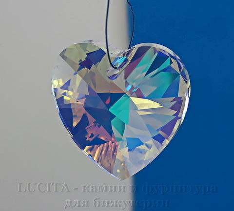 6228 Подвеска Сваровски Сердечко Crystal AB (28 мм) (Картинка)