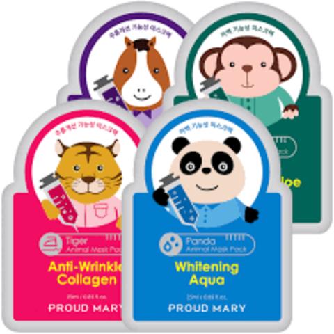 Тканевые маски с мордочками животных Proud Mary Animal Mask Pack