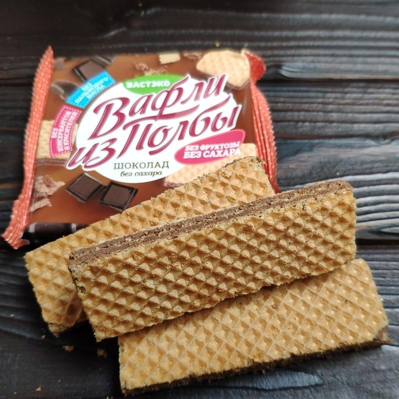 Фотография Вафли из полбы Шоколад без сахара, 45 г купить в магазине Афлора