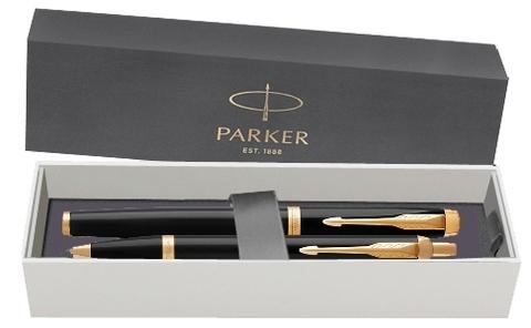 Набор: Перьевая и Шариковая ручка Parker IM Core Black GT123