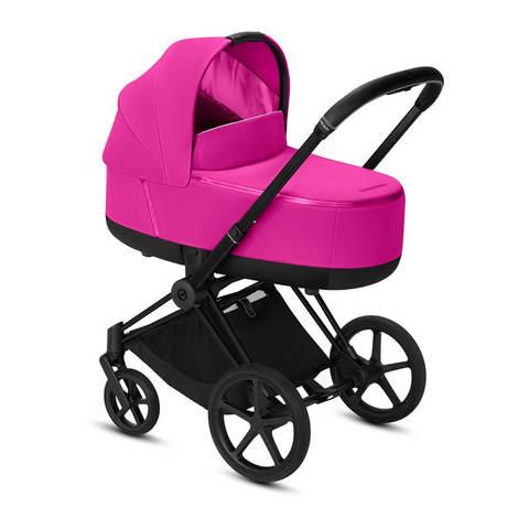 Коляска для новорожденных Cybex Priam III Fancy Pink на шасси Matt Black
