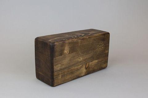 Опорный блок из сосны (тонированный) 23х12х8