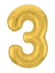Р Цифра, 3 Slim, Золото, в упаковке 40