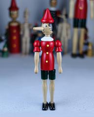 Пиноккио со сменным носом, 40 см, Италия