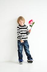 Sweet Berry Серый жакет в полоску для мальчика (146317)