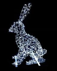 Световая фигура заяц