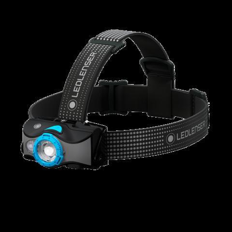 Фонарь светодиодный налобный LED Lenser MH7, черно-голубой, 600 лм
