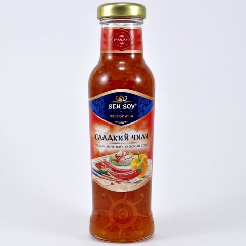 Соус чили сладкий в стеклянной бутылке Sen Soy, 320г