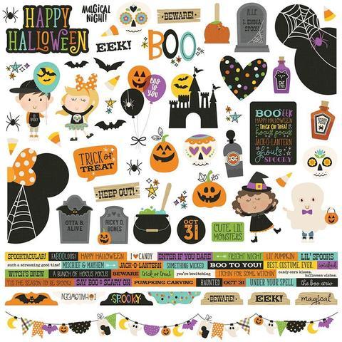 Стикеры 30х30смSay Cheese Halloween Cardstock Stickers -Combo