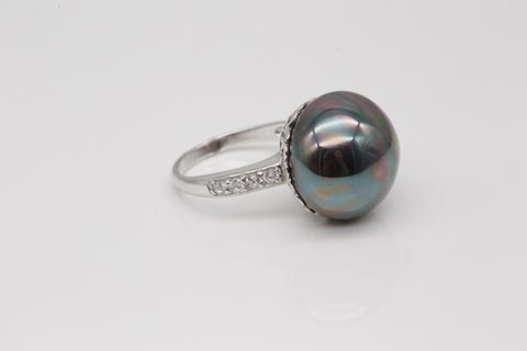 Кольцо из серебра с жемчугом 24К85090
