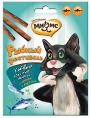 Лакомые палочки для кошек Мнямс Рыбный фестиваль лосось, форель