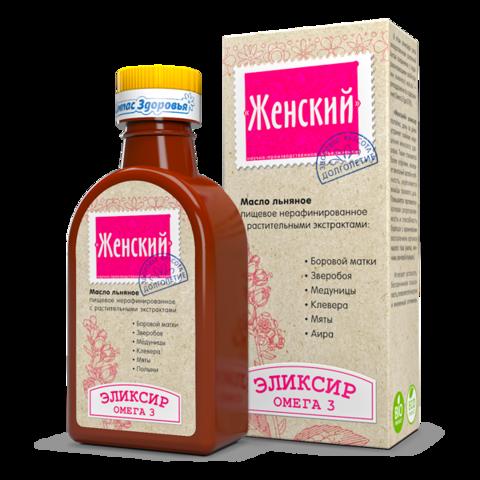Масло льняное Женский эликсир 200 мл (Компас здоровья)