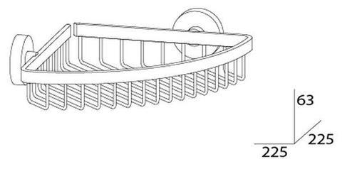 Полочка-решетка угловая 20 см HARMONIE HAR 021 Artwelle