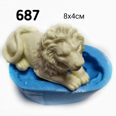 0687 молд силиконовый. Лев.