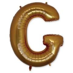 """Буква """"G"""" золото 102 см"""