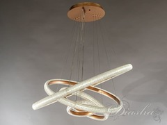 Золотая Современная Подвесная Светодиодная люстра с диммером, 155W