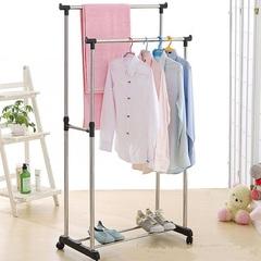 Напольная передвижная вешалка для одежды Double