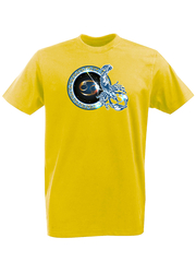 Футболка с принтом Знаки Зодиака, Рак (Гороскоп, horoscope) желтая 004