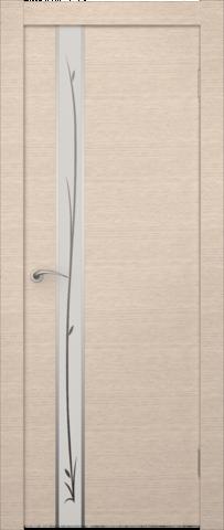Дверь Zadoor Маэстро (зеркало с рисунком), цвет беленый дуб, зеркало