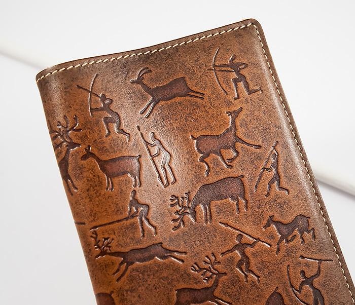 BY14-14-03 Прикольная обложка из кожи на паспорт, тиснение фото 04
