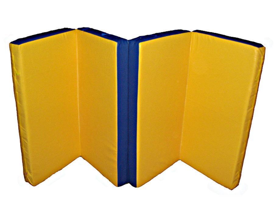 Мат гимнастический 1х2х0,1м, (в 4 сложения) поролон, искусственная кожа