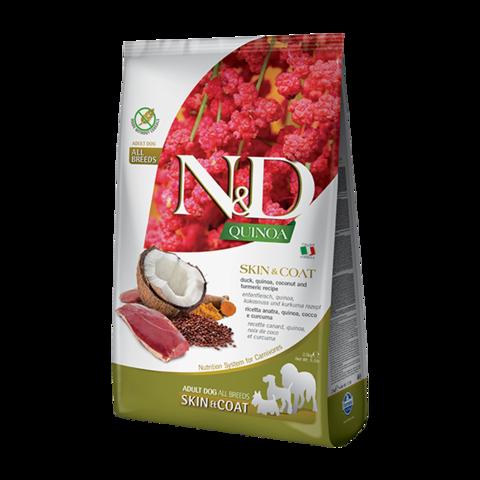 Farmina Quinoa Skin&Coat Duck Сухой корм для собак для здоровья кожи и шерсти Утка с Киноа беззерновой