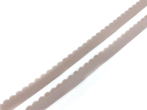 Резинка отделочная серебристый пион 12 мм (цв. 168)