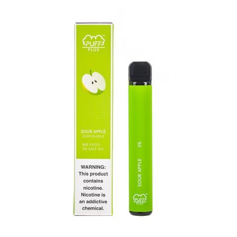 Одноразовая электронная сигарета Puff PLUS Sour Apple (Кислое Яблоко)
