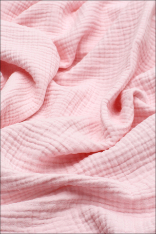 Ткань муслиновая, 4 слоя, Клубничное суфле, ширина 240см