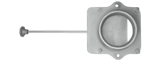 Чугунный шиберный блок ф115