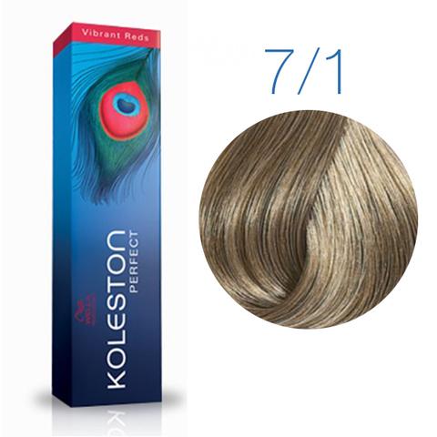Wella Professional KOLESTON PERFECT 7/1 (Блонд пепельный) - Краска для волос