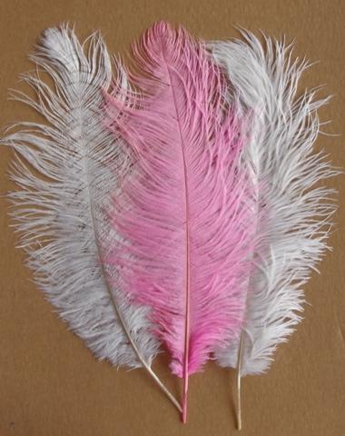 Перья страуса  декоративные 40-45 см. Уценка, категория 1 (выбрать цвет)