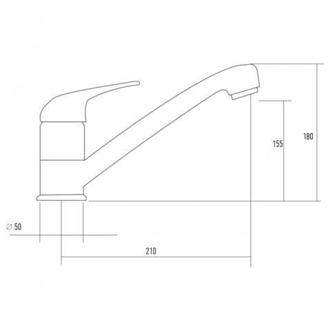 Смеситель для мойки Kuppersberg TOPAZ KG2560 BLACK METAL/CH