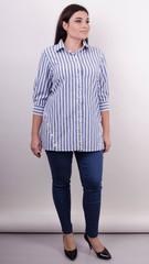 Дакота. Оригінальна жіноча сорочка великих розмірів. Смуга.