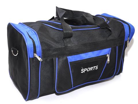 Сумка спортивная. Размер 48х25х21 см. Основной карман на молнии, дополнительный накладной карман сбоку, двумя торцевыми карманами. DY-8105