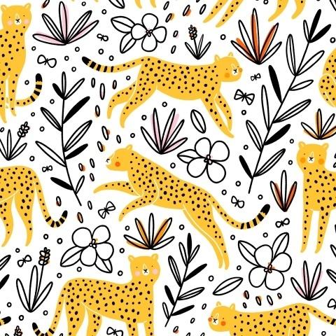 Гепарды охотятся на бабочек