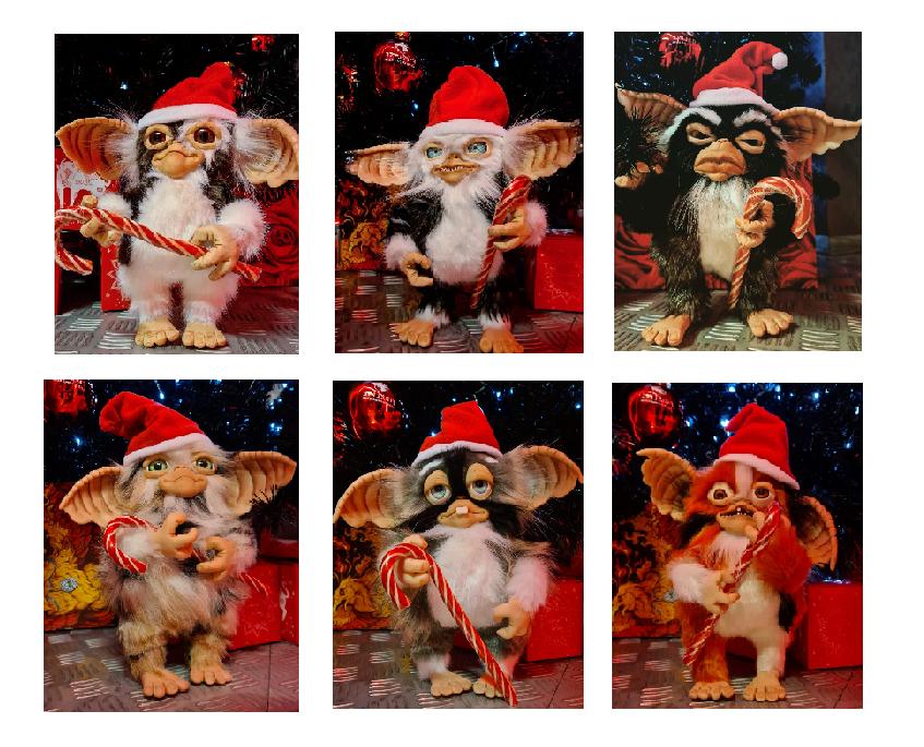 Рождественские гремлины кукла ручная работа