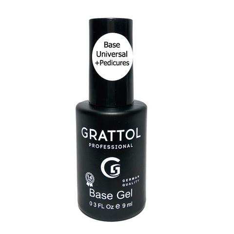 База GRATTOL Rubber Base Gel Universal+Pedicures 9мл