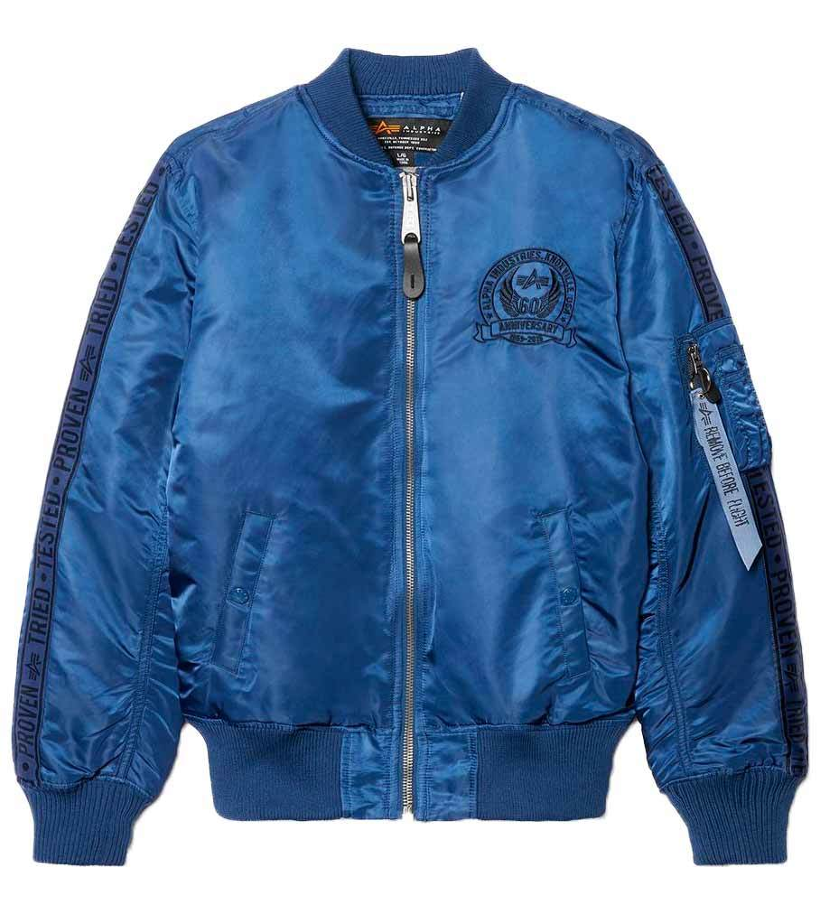 Куртка Бомбер - MA-1 60Th Anniversary(синяя - navy blue)