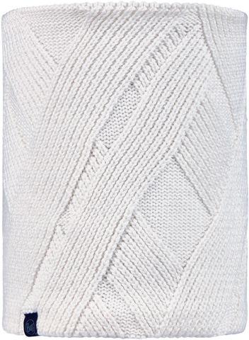 Вязаный шарф-труба с флисом Buff Neckwarmer Knitted Polar Rraisa White фото 1